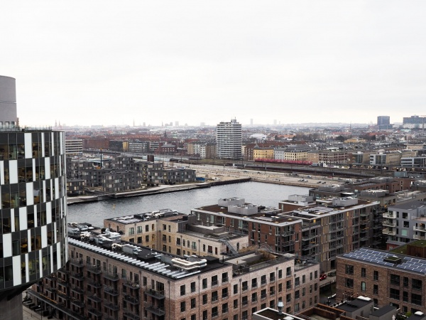 The Silo Frihavnstårnet Nordhavn Århusgadekvarteret Helsinkigade 4V altan tagterrasse udsigt biograf parkeringshus cykelparkering kælder depotrum