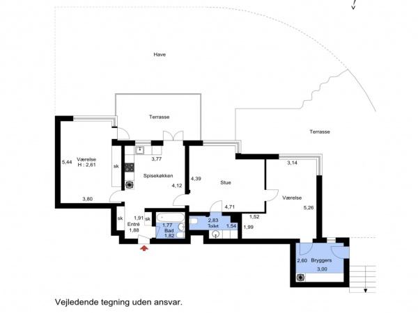 Leje lejlighed lejelejlighed lejebolig udlejning Skodsborg Rudersdal