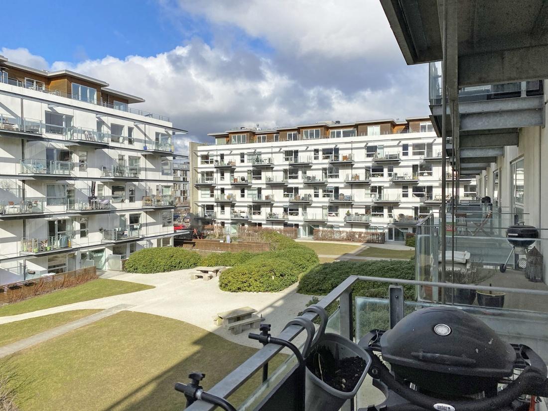 Teglholmen Teglholmsløbet leje lejlighed lejelejlighed københavn sydhavn Fisketorvet vand havnebassin hav altan udsigt 2v