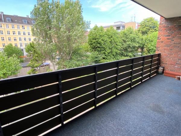 Møbleret 3V Frederiksberg Platanvej lejelejlighed lejlighed leje altan gårdhave