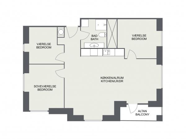 Leje lejlighed lejelejlighed lejebolig udlejning Nordhavn Copenhagen International School apartment rent rental