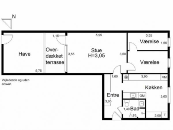 stuelejlighed humlebæk terrasse overdækket have 3v 2v leje lejlighed bolig lejebolig nordsjælland Louisiana nordkysten
